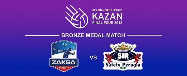 «Zaksa KEDZIERZYN-KOZLE - Sir Colussi Sicoma PERUGIA» #CLF4Kazan #BronzeMedalMatch