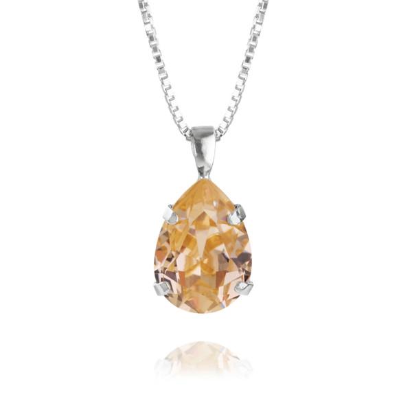 Mini Drop Necklace / Light Peach Rhodium