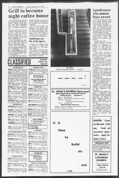 Daily Trojan, Vol. 62, No. 48, December 04, 1970
