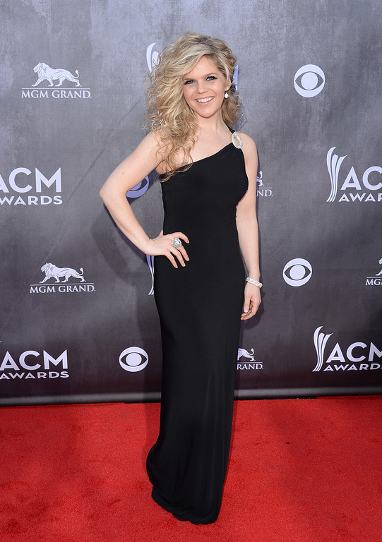 . Singer Natalie Stovall attends the 49th Annual Academy Of Country Music Awards at the MGM Grand Garden Arena on April 6, 2014 in Las Vegas, Nevada.  (Photo by Jason Merritt/Getty Images)
