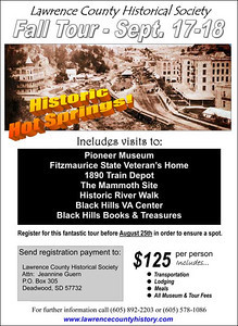 """The scheduled fall tour for the Lawrence County Historical Society in September 2011 had to be postponed.  The poster for the original event is shown here.  We'll post new dates once the tour has been rescheduled.  You may also visit the   """"Tours"""" section of the Historical Marker web site for more information."""