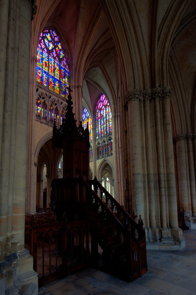 Troyes, Cathedral of Saint-Peter and Saint-Paul Pulpit and Clerestory Windows