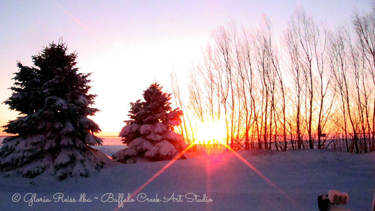 First sunset of 2011.