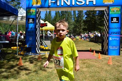 Donner Lake Kids Tri Finish