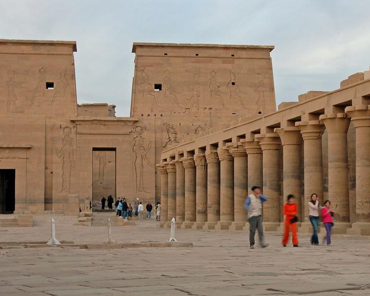 leaving philae temple