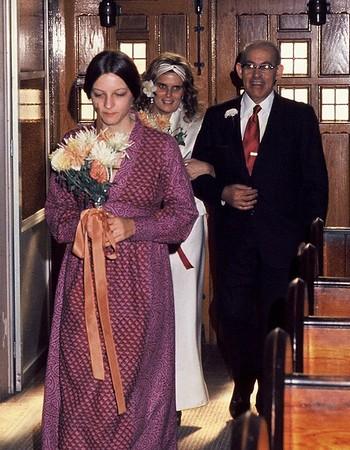 Joan & Chris wedding (10/20/73)