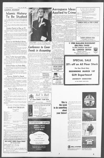 Daily Trojan, Vol. 56, No. 72, February 26, 1965