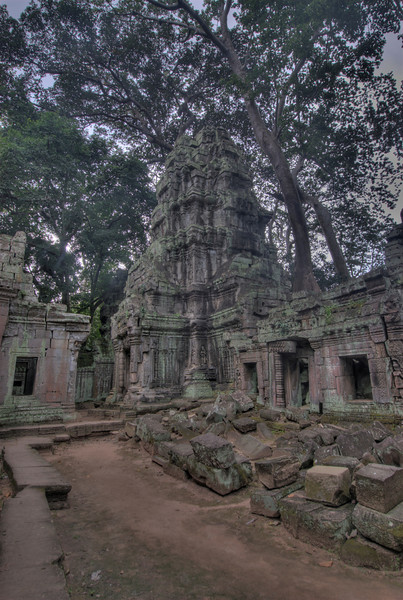 Ruins at the back of Ta Prohm, Cambodia