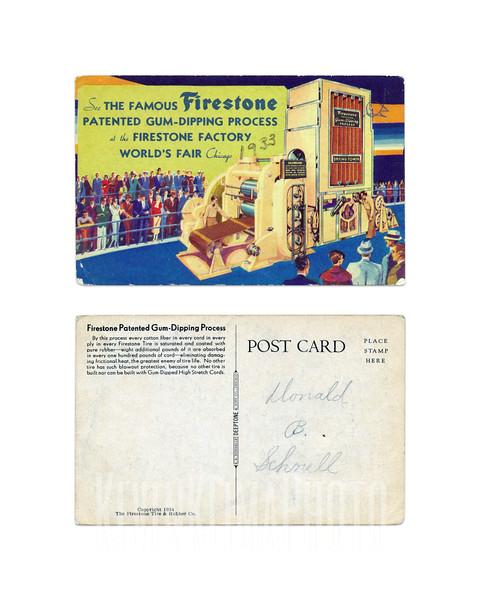 Firestone Patented Gum-Dipping Process - 1934