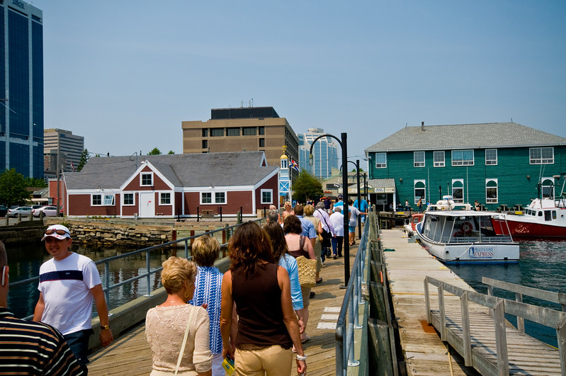 The Halifax Harbor Walk is pretty popular