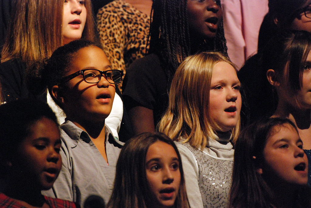 """. Kayla Rice/Reformer Students from Kurn Hattin School\'s select choir perform \""""Thank You Soldiers\"""" during the school\'s Veterans Day Observance."""