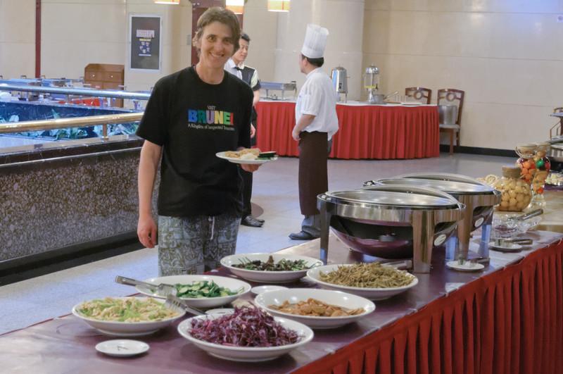 In Xian gab es erst einmal ein gutes Frühstück. Nach dem vielen Fleisch war es gut, mal wieder etwas Gemüse zu essen.