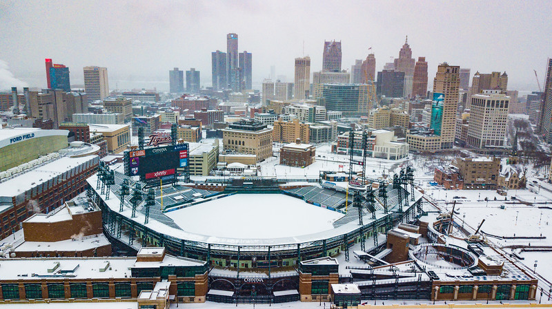 Christmas Day Aerials Detroit