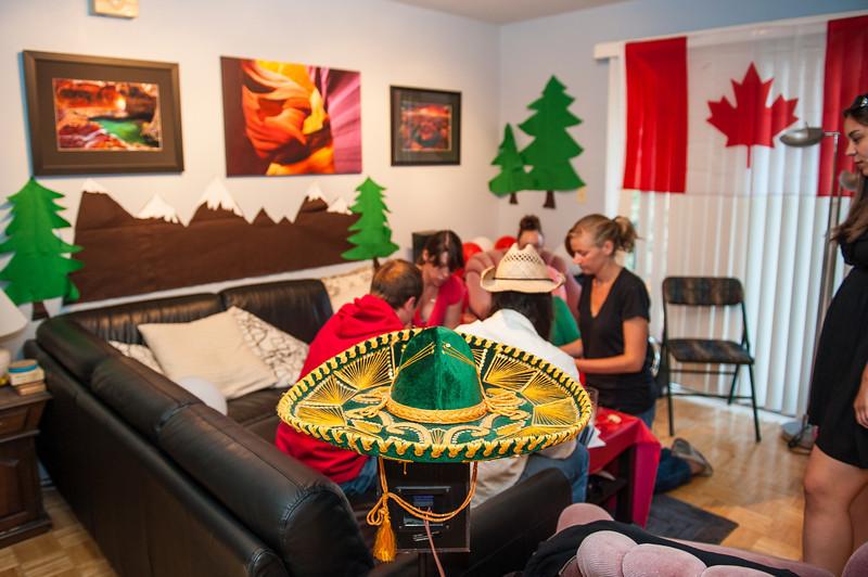 NAFTA Party Mexico: Apartment G Canada: Our Apt (L) Amurica: Apartment M (Mark's) England: Apartment Q (Stu/Ron)