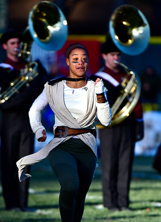 11/23/2018 Mike Orazzi   Staff Members of the Bristol Central High School marching band during the Battle for the Bell at Muzzy Field Friday. Central won 24-19.