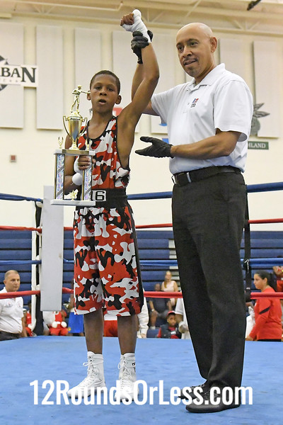 Bout #2:  Kevin Huff, Blue Gloves   vs   Toron Cooper, Red Gloves  -  90 Lbs.