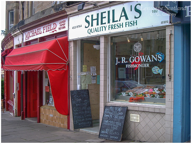 Butcher and fishmonger, Marchmont Crescent  (2004)