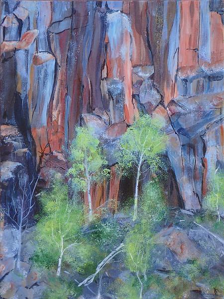 Aspens on the rocks