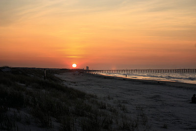 Sunset Beach Surf Fishing Sunrise July 29 2011