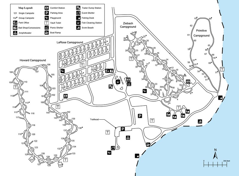 Grahams Island State Park (Campground Map)