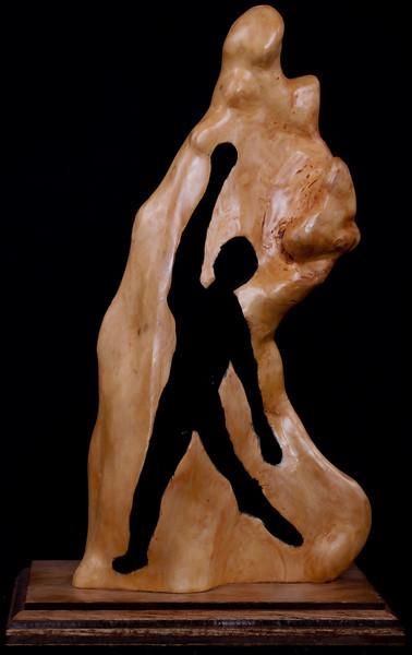King David – The Dancer<br /> by Bro. Edwin Reggio<br /> cypress knee figure