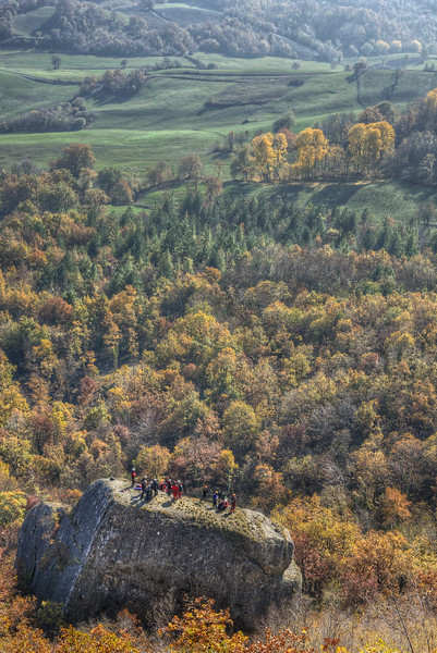 Boulder - Pietra di Bismantova, Castelnovo ne' Monti, Reggio Emilia, Italy - November 13, 2011