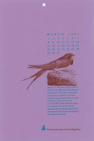 March, 1981, Cycling Frog