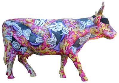 13 ¿la vaca te observas¿ -Artista Oscar Gómez de la Vega - Sponsor Espectaculares Tapatios