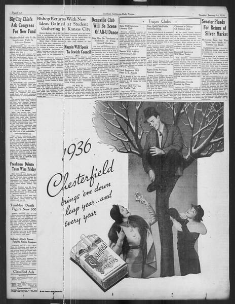 Daily Trojan, Vol. 27, No. 64, January 14, 1936
