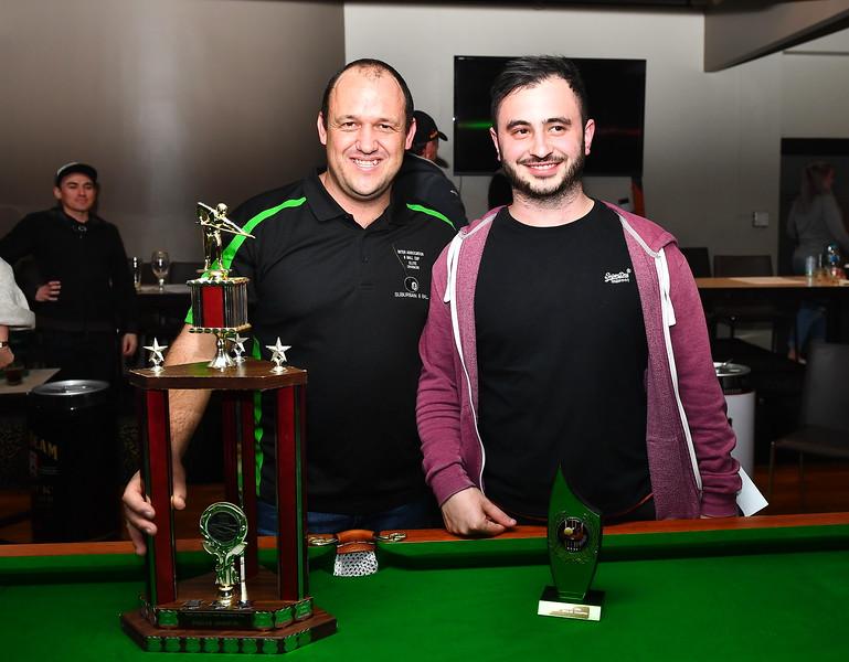 2018 Winner Jeff Gluyas with Runner-up Michael Cacciola