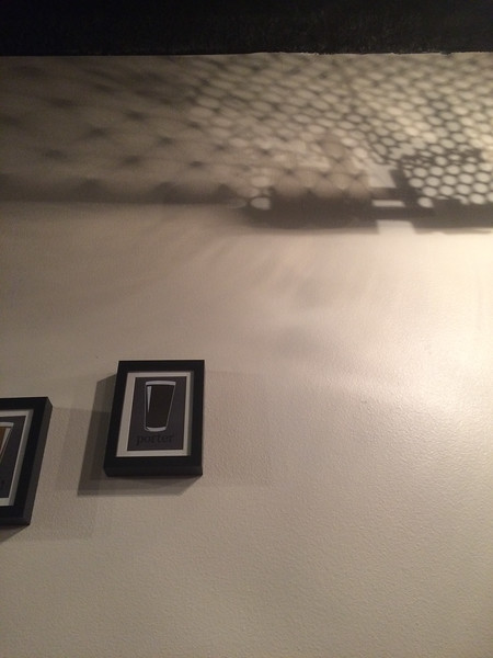 Some cool decor/shadows at Souris River Brewing. Get the coconut brown ale!
