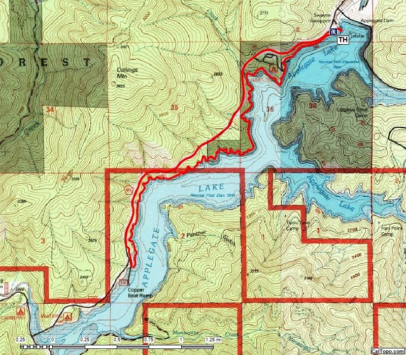 Da-Ku-Be-Te-De Trail Applegate Lake Oregon