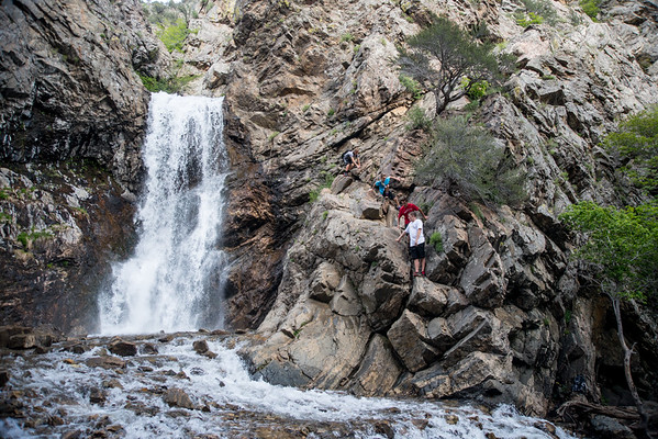 2015 hike to adams fall with YM