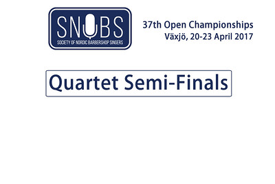 2017-0421 SNOBS - Quartet Semi-finals