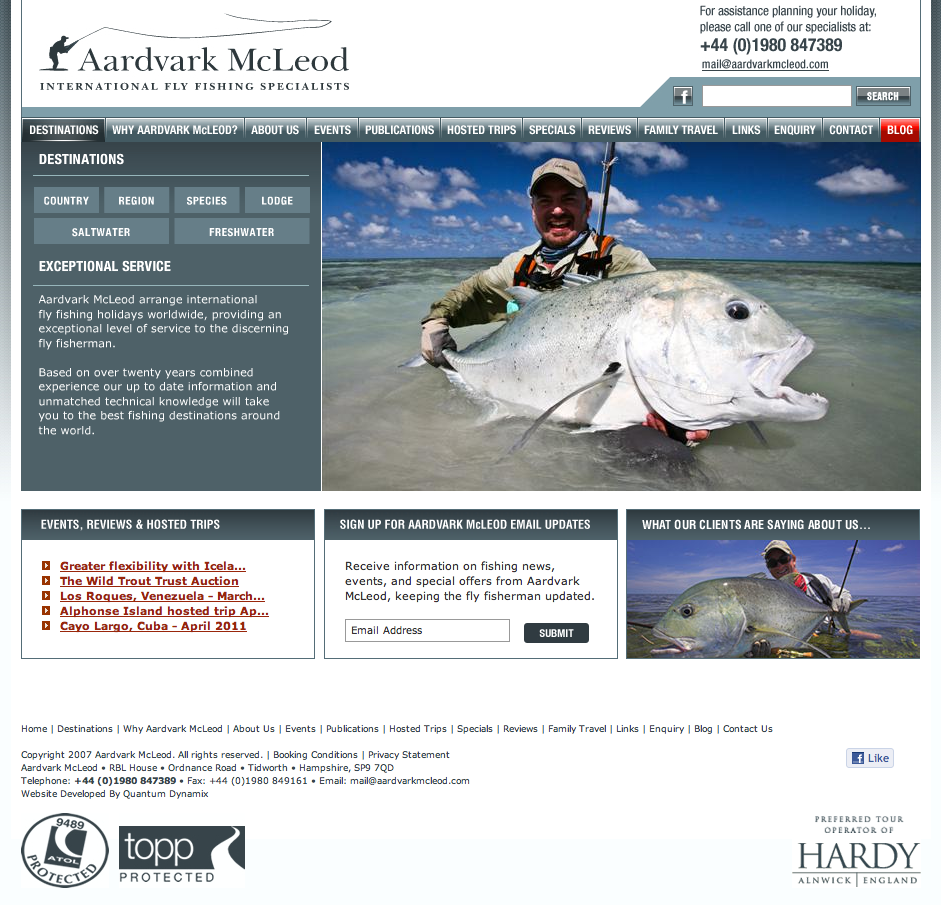 """Pete McLeod is one of the most passionate and well-travelled anglers I've met. He knows what he's talking about, and if he sends you somewhere, you can rest assured, you're going somewhere good - check out his excellent operation at <a href=""""http://www.aardvarkmcleod.com/"""">http://www.aardvarkmcleod.com/</a>"""