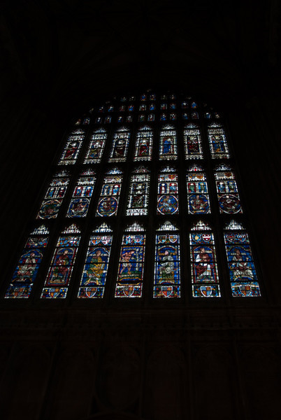 Stained glass inside the cathedral