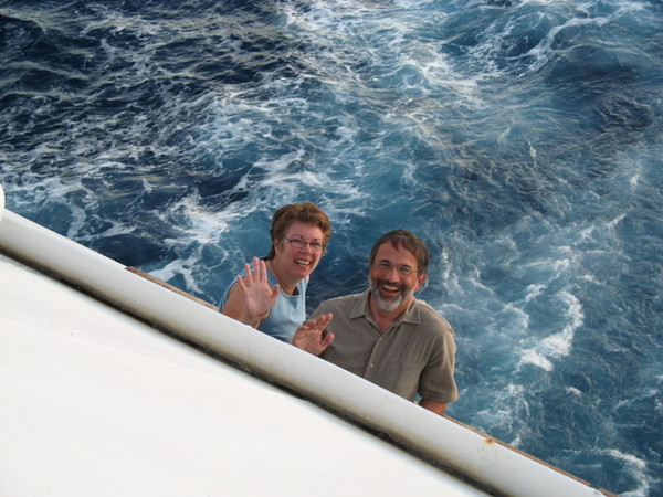 Photo taken by fellow cruiser, Peg, from the cabin above ours.