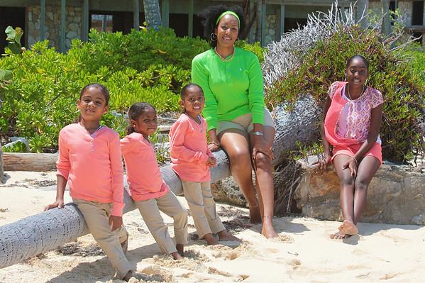 Terria & Her Girls  Mother & Daughters   Exuma, Bahamas