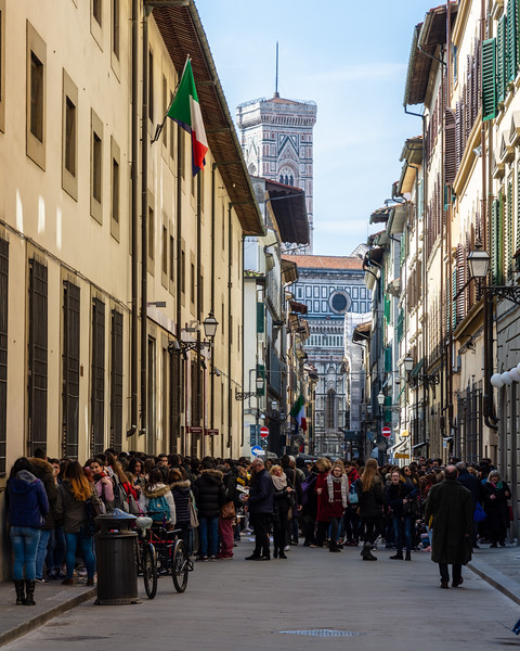 Tourist crowds in Florence