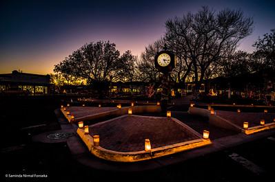 Luminarias on the Plaza in Socorro