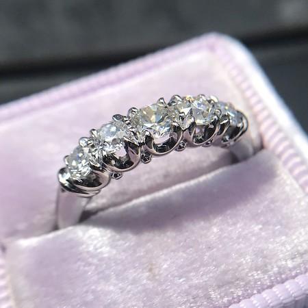 0.60ctw 5-stone Transitional Cut Diamond Band by Jabel