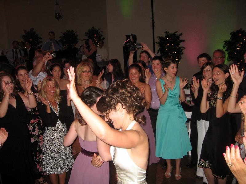 Abby dances with bridesmaid Vicki