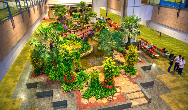 If you see a garden in the middle of an International airport, there got to be at least a gardener.