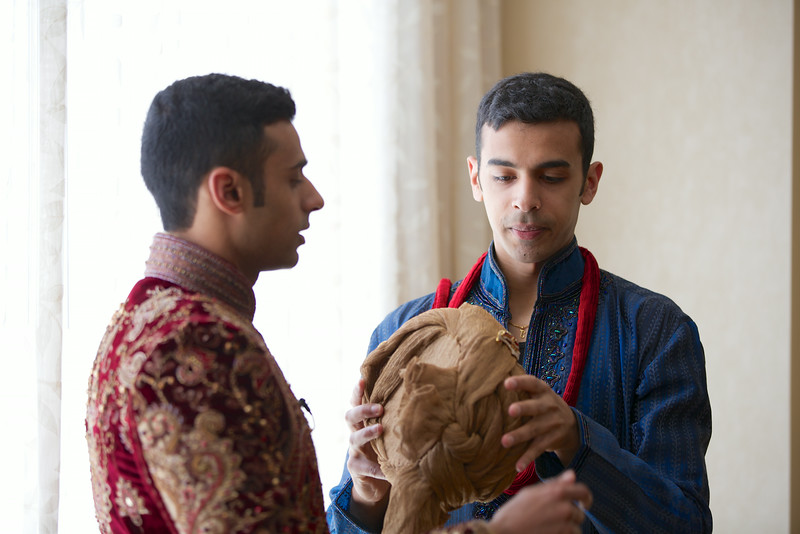 Le Cape Weddings - Indian Wedding - Day 4 - Megan and Karthik Groom Getting Ready 14.jpg