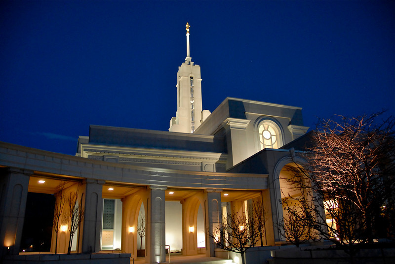 2011/3/15 – Lisa and I went to the Mt. Timpanogos Temple this evening. The timing was perfect because when we came out the sun had set and the sky had that nice blue hue to the east where is was starting to get dark. The balance of light was perfect to expose for the sky and the lights on the temple. It is an amazing building.