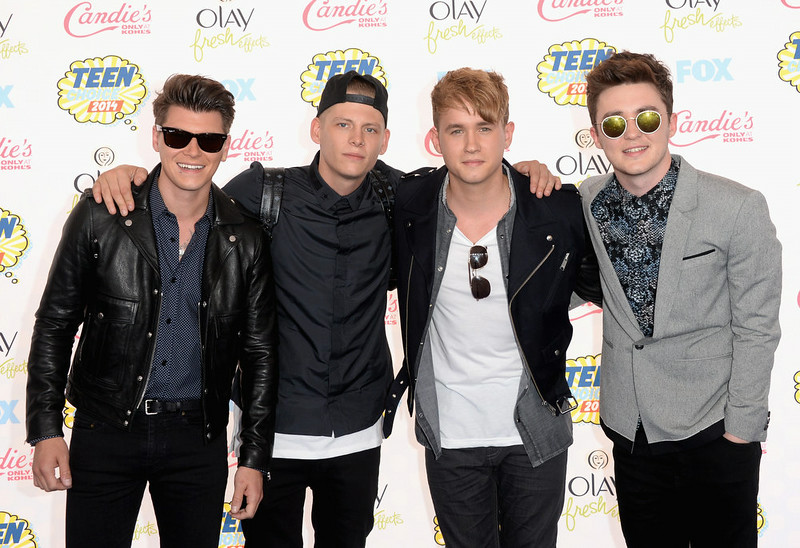 . Musical group Rixton attends FOX\'s 2014 Teen Choice Awards at The Shrine Auditorium on August 10, 2014 in Los Angeles, California.  (Photo by Jason Merritt/Getty Images)