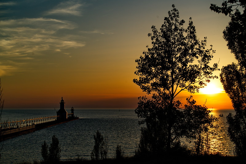 Michigan, St Joseph, St. Joseph North Pier Lights Lighthouse