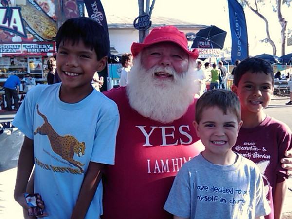 Yep.  Santa is real.  We met him while he was on vacation at the Orange County Fair.