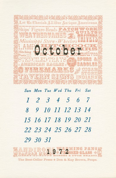 October, 1972, Best-Cellar Press