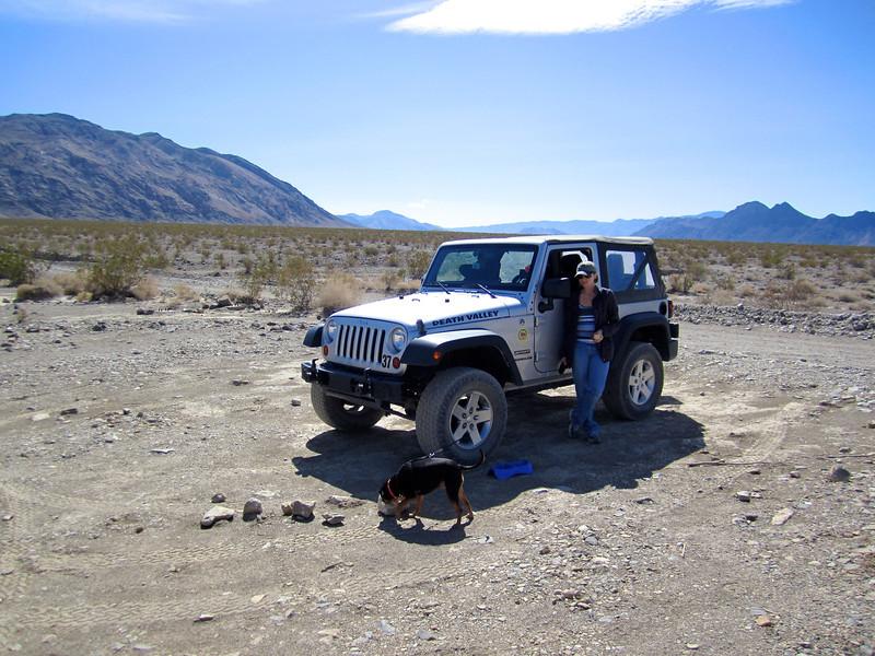 Jamie & Izzy in Death Valley.